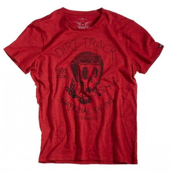 ROKKER T-Shirt DIRT TRACK red