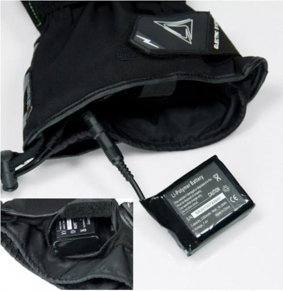 ORINA beheizbare Winter Handschuhe TESLA schwarz-neongelb