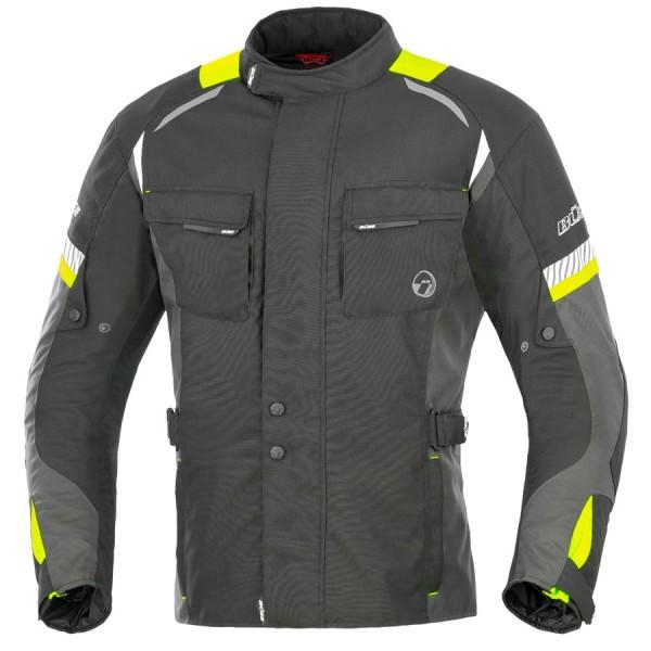 BÜSE Textiljacke BRENO wasserdicht schwarz-gelb