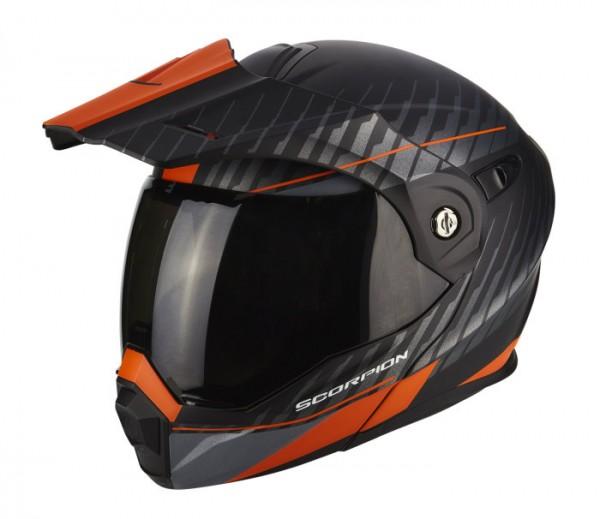 SCORPION Enduro Klapphelm ADX-1 DUAL schwarz-orange
