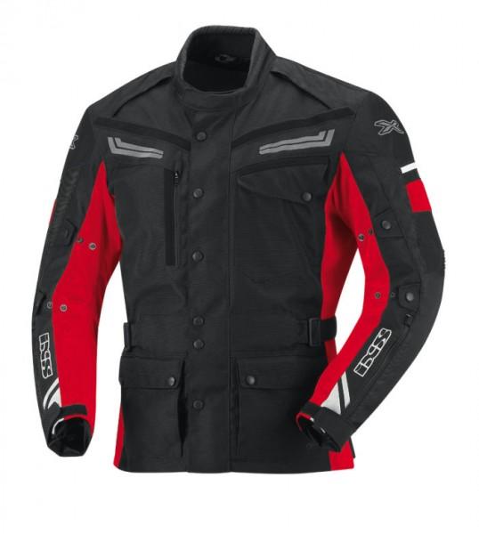 IXS Textiljacke EVANS schwarz-rot