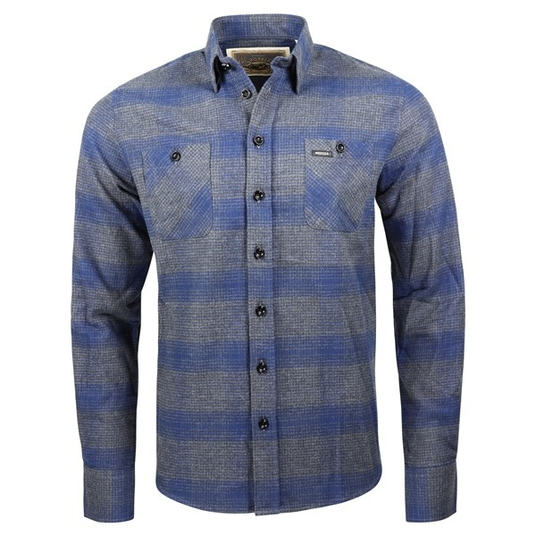 ROKKER Hemd Shirt MILTON blue grey