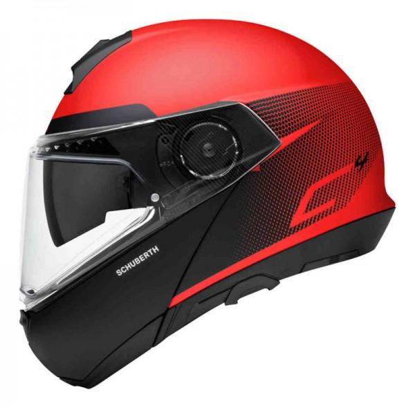 SCHUBERTH Klapphelm C4 RESONANCE schwarz rot