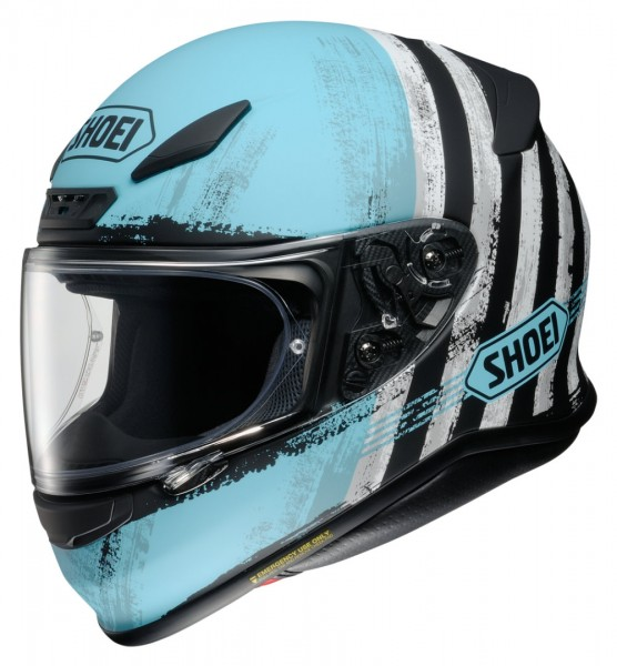 SHOEI Integralhelm NXR SHOREBREAK TC-2 blau-schwarz-weiss