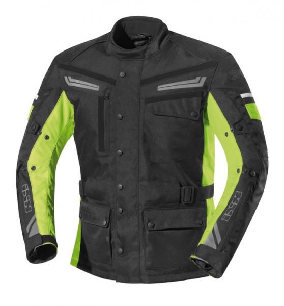 IXS Textiljacke EVANS schwarz-gelb
