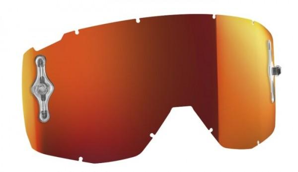 SCOTT Motocross Brillenscheibe für HUSTLE, TYRANT, SPLIT orange chrome