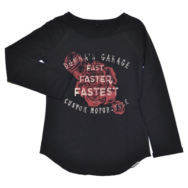 ROKKER Shirt Longsleeve Woman FASTEST schwarz