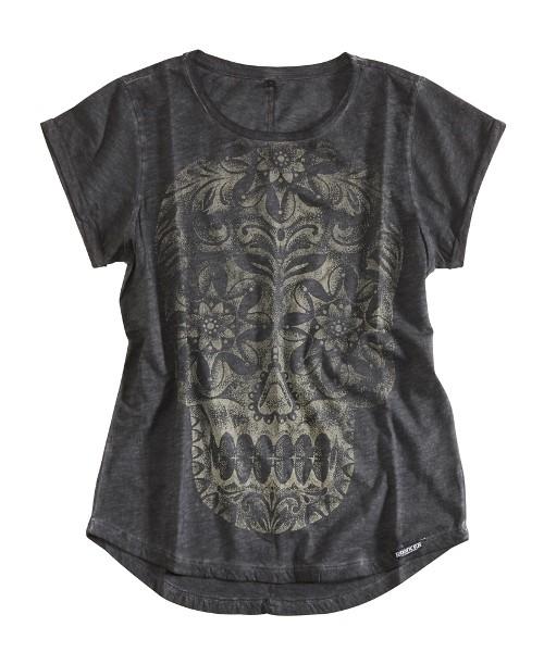 ROKKER T-Shirt Women CALAVERA LADY dark grey