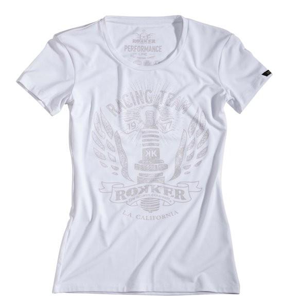 ROKKER Damen Funktionsshirt PERFORMANCE Racing Team Tee white