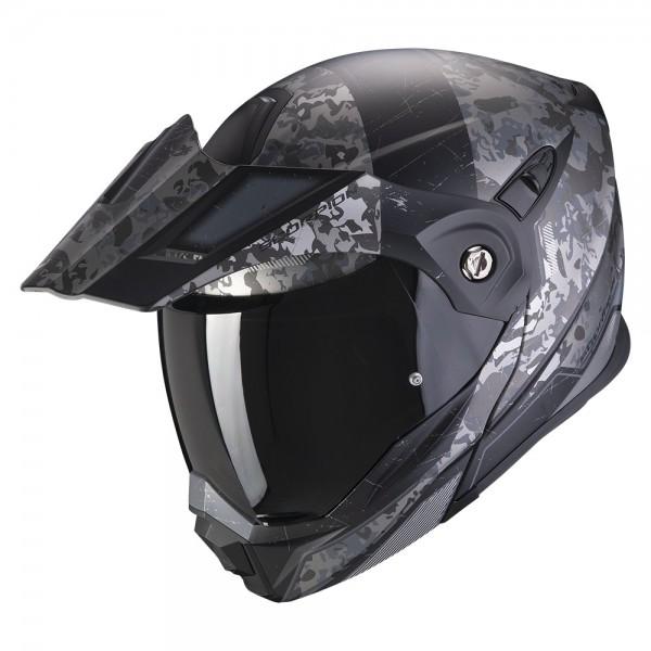 SCORPION Enduro Klapphelm ADX-1 BATTLEFLAGE schwarz-grau