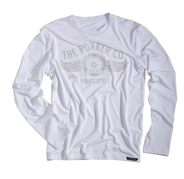 ROKKER Funktionsshirt PERFORMANCE RIDING STYLE TEE langarm weiss